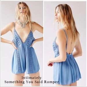 Intimately Something You Said Romper XS